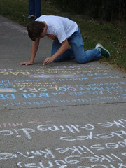 2011 Fall Poetry Chalking