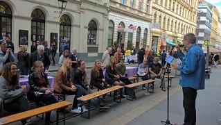 Textstromtafel / Straßenfest Josefstadt