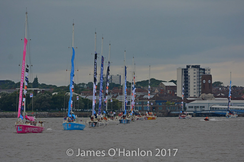 Clipper Vessels arriving in the Mersey / Canning Dock