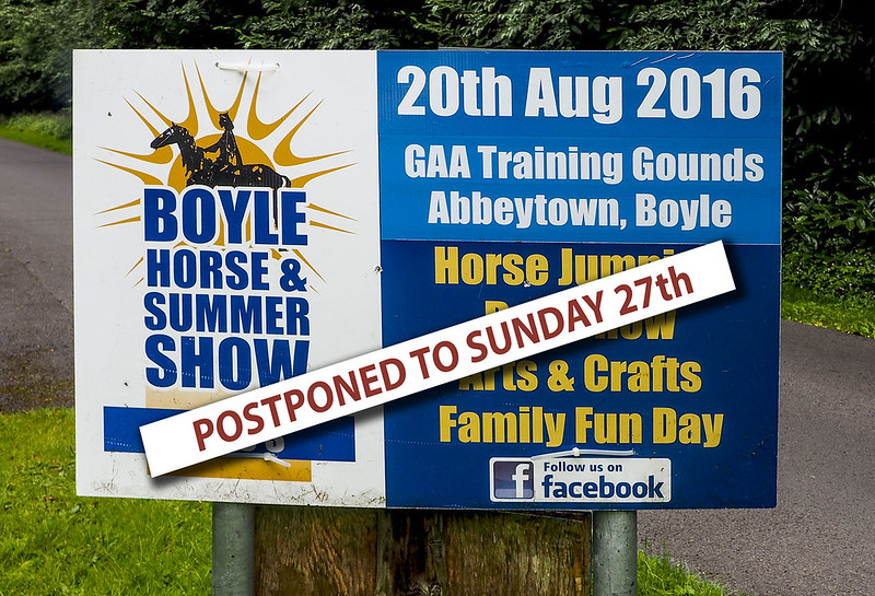 Boyle Summer Show Postponed