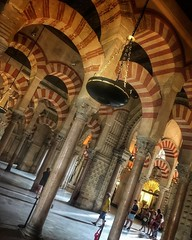 Mosque–Cathedral of Córdoba | #cordoba #andalucia #spain #travel #art #architecture #worldcommuter #photography | According to a traditional account, a small temple of Christian Visigoth origin, the Catholic Basilica of Saint Vincent of Lérins, originally