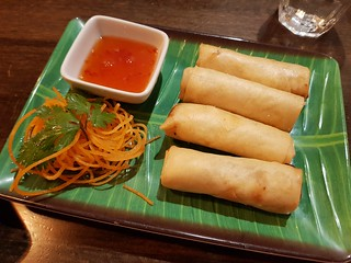 Vegan Spring Rolls at Khot Thai