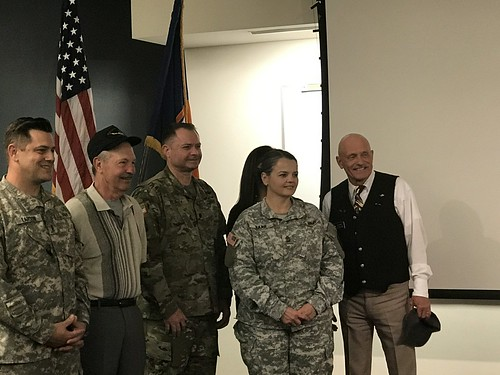Loren Gee (second from left) with military personnel and Rep. Dent after receiving his Distinguished Flying Cross.