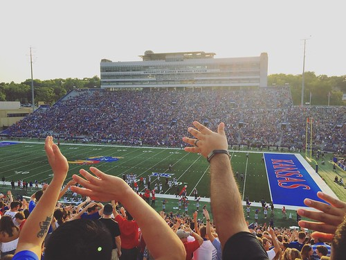 #exploreKU from the stands