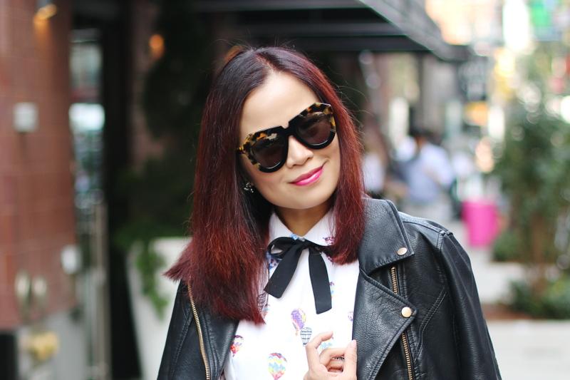 karen-walker-sunglasses-bow-tie-dress-7