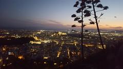Vue sur l'Acropole depuis le mont Lygaette
