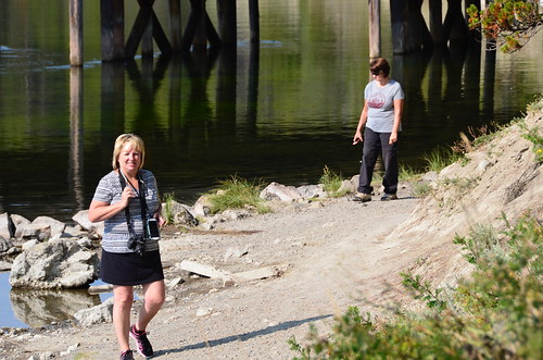 Yellowstone Fishing bridge Sandy and Tammie