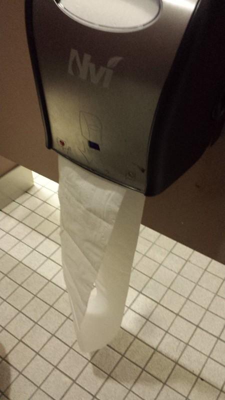 Petaluma sights: Automatic toilet paper dispenser
