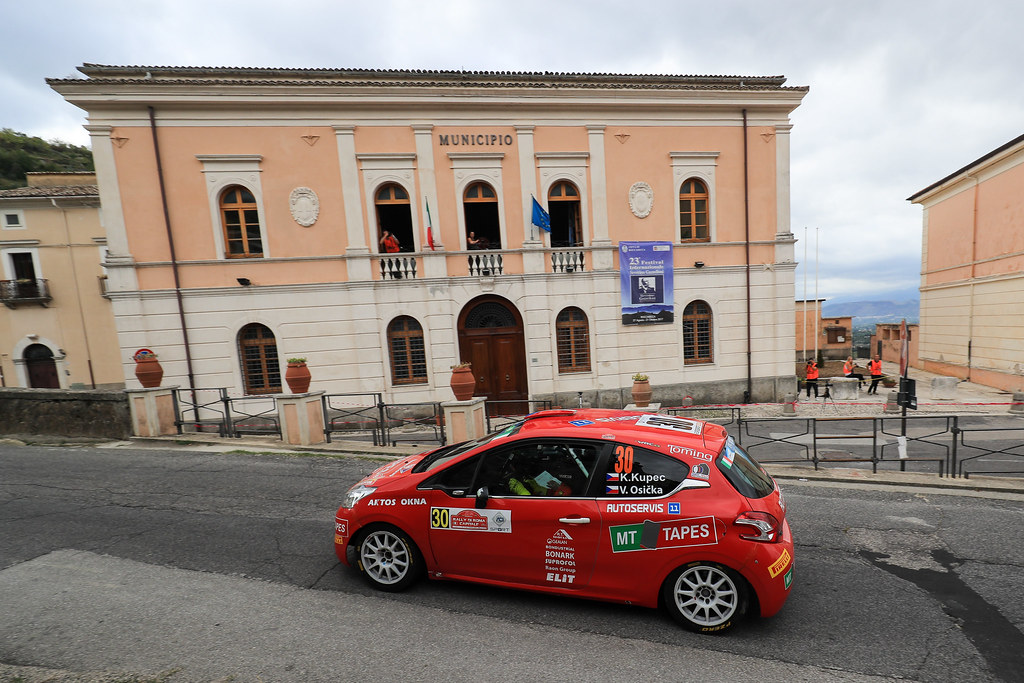30  KUPEC Radomir (CZE) GLOSSL Petr (CZE) Peugeot 208 R2 action during the 2017 European Rally Championship ERC Rally di Roma Capitale,  from september 15 to 17 , at Fiuggi, Italia - Photo Jorge Cunha / DPPI