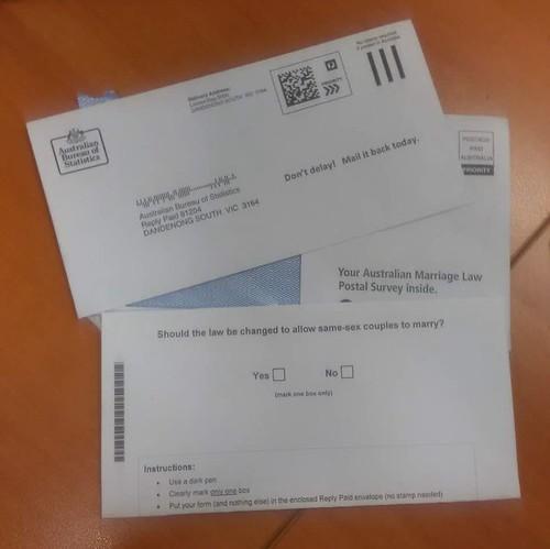 同性结婚合法化的邮寄选票