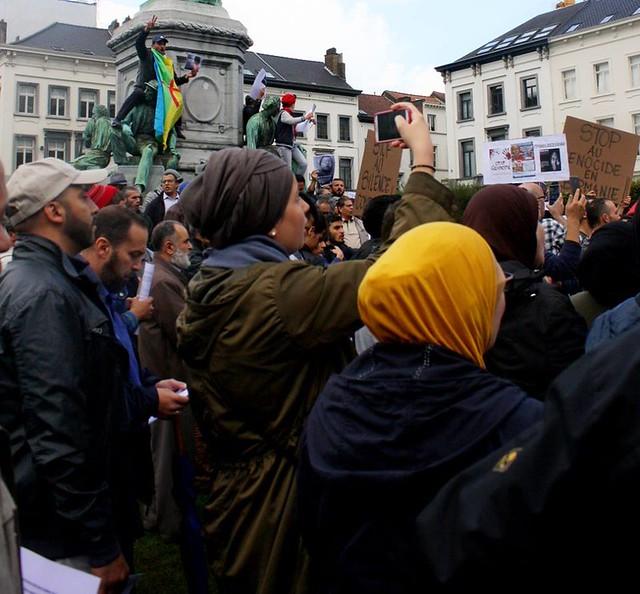Protest tegen vervolging Rohinya // Foto's door Liesbeth