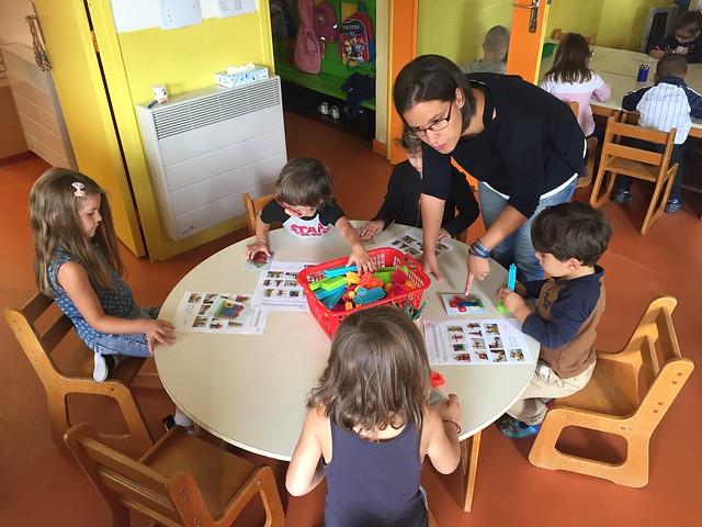 Visite à l'école primaire d'Estiallet, école de formation