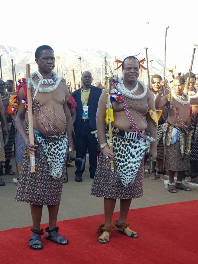 Image result for Zambia's Lungu joins King Mswati III at Swaziland's Reed Dance ceremony [Photos]