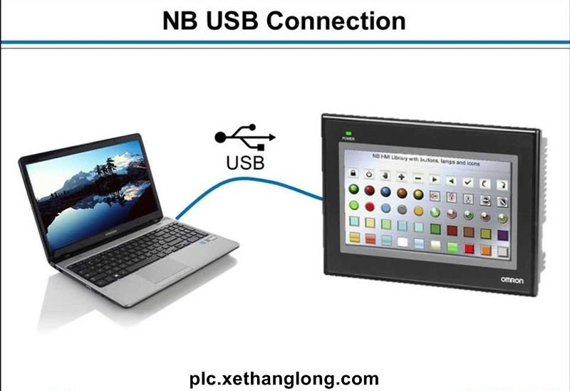 PC kết nối trực tiếp HMI qua cổng USB