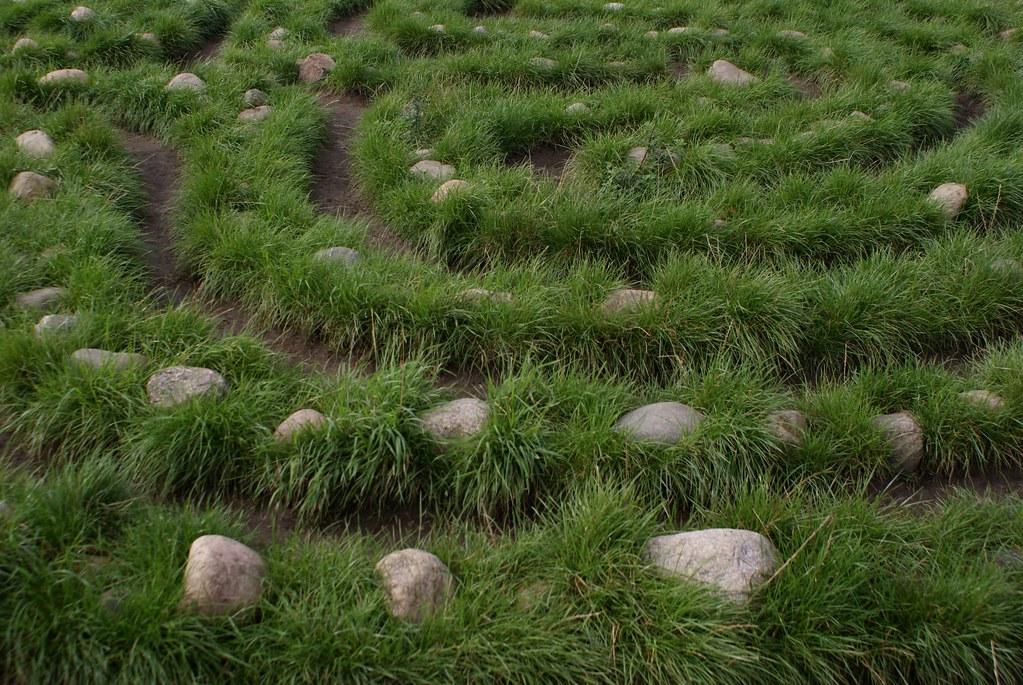 Jeu et labyrinthe viking dans le musée des navires de Copenhague.
