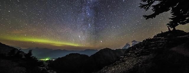 Night Sky Panorama at Artist Point Sept