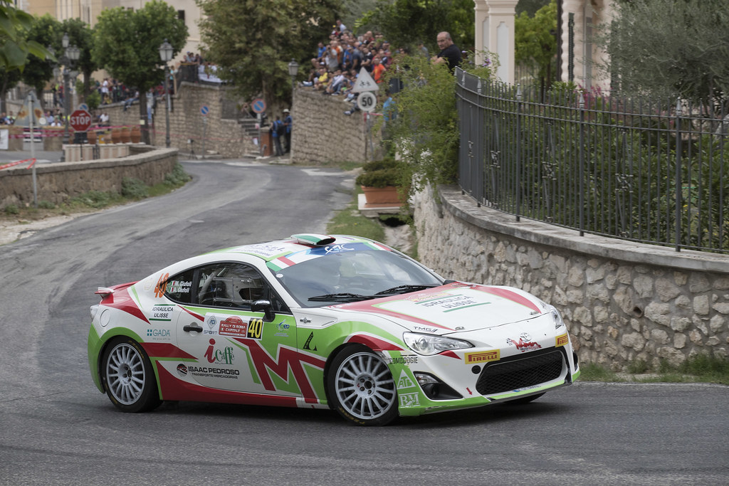 40 CIUFOLI Marco (ITA) CIUFOLI Alessandro (ITA) Toyota GT86 R3 action during the 2017 European Rally Championship ERC Rally di Roma Capitale,  from september 15 to 17 , at Fiuggi, Italia - Photo Gregory Lenormand / DPPI