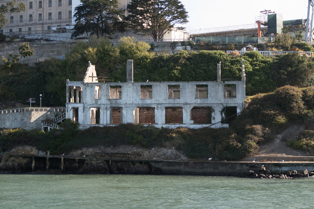 View of Alcatraz from ferry