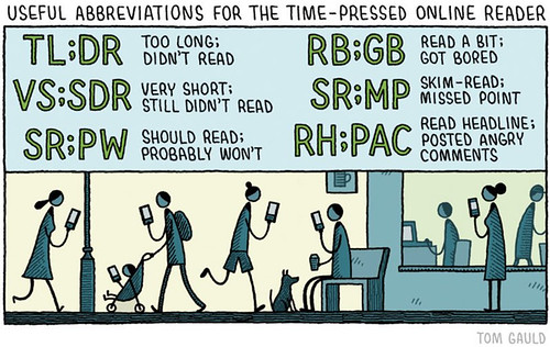 "Tom Gauld on Twitter: ""Useful abbreviations for the time-pressed online reader"""