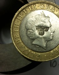£2 coin with nazi counterstamp