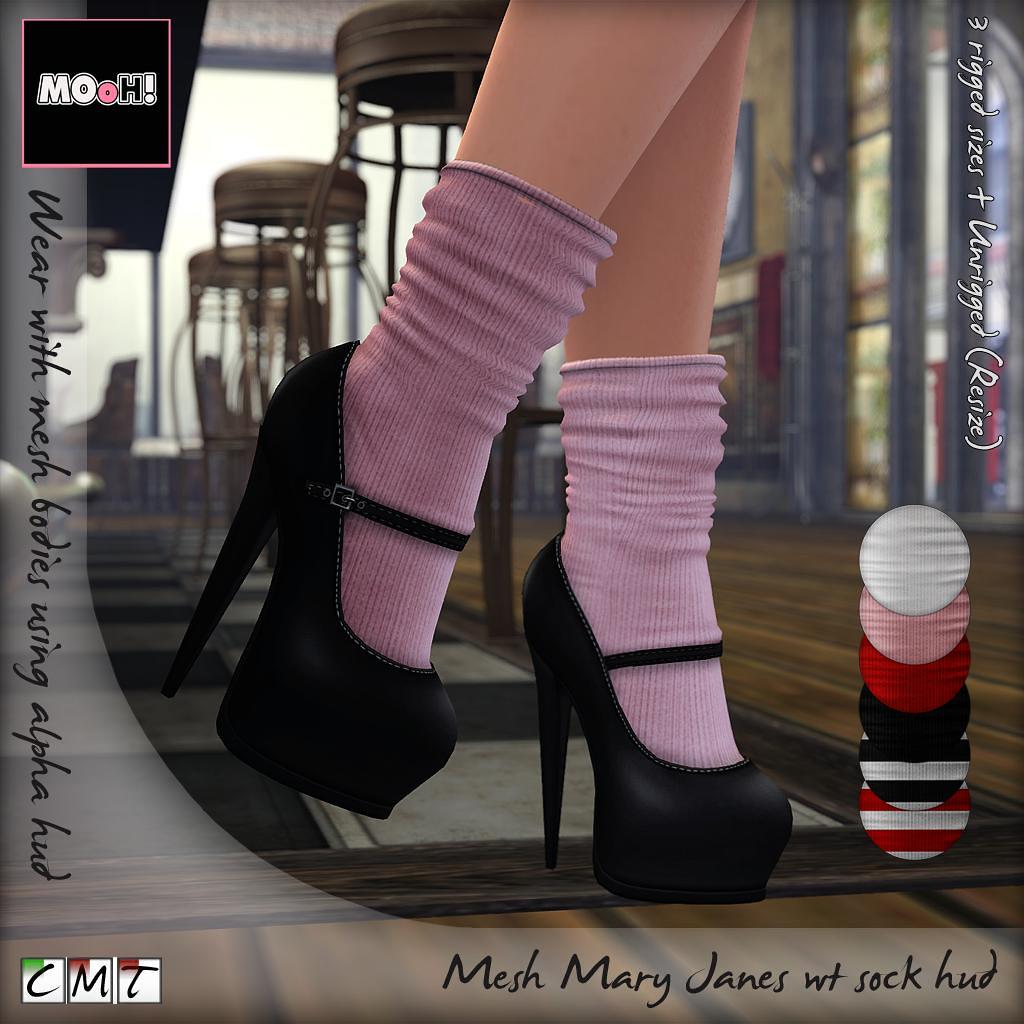 Mary Janes wt sock Hud - TeleportHub.com Live!