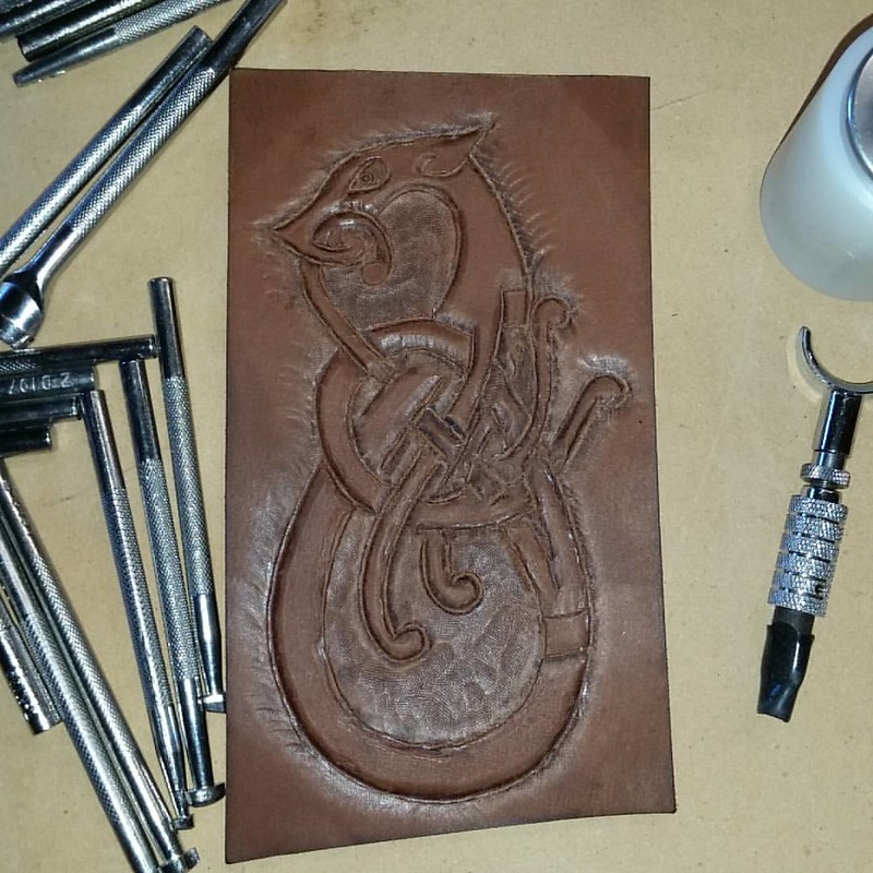 My second attempt at tooling leather.