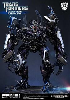 Prime 1 Studio 變形金剛【判官】ディセプティコンバリケード Transformers Decepticon Barricade MMTFM-15 全身雕像作品