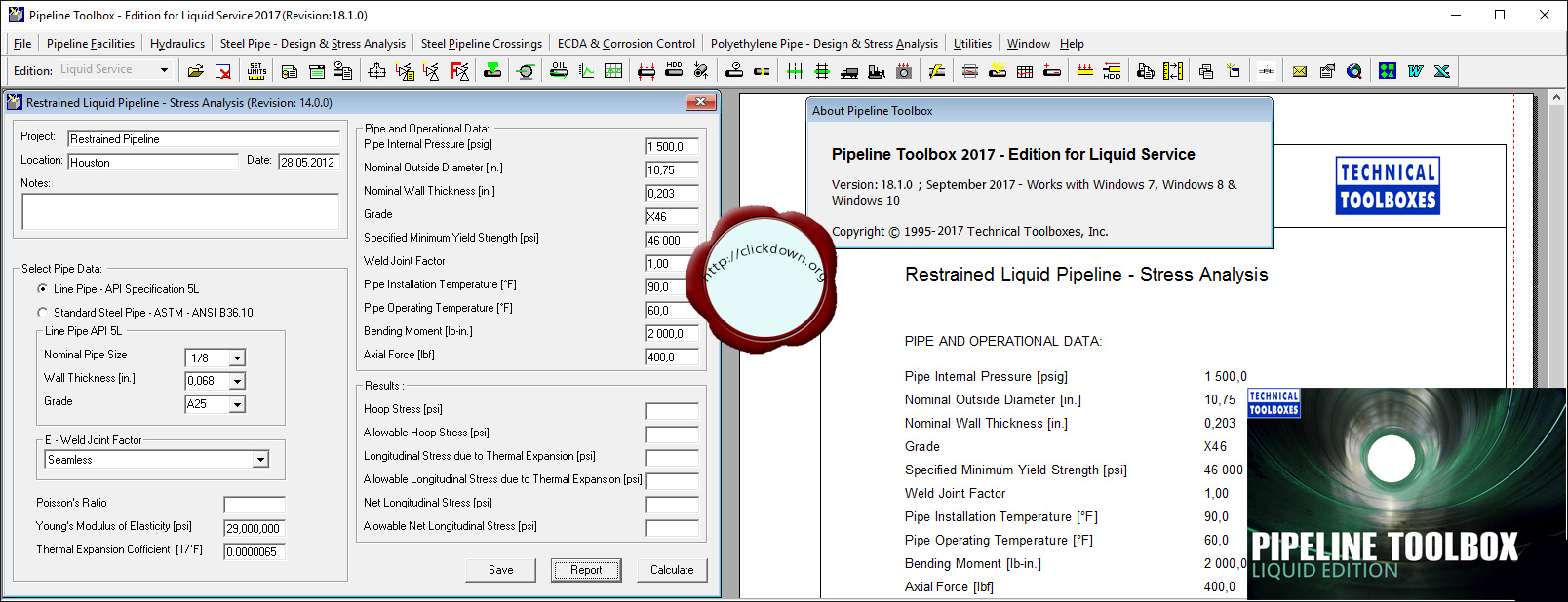Download TTI Pipeline Toolbox 2017 v18.1.0 Liquid / Gas full license