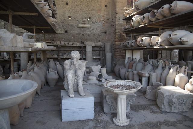 Storage area in Pompei
