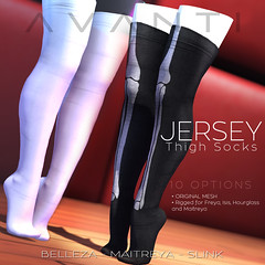 Avanti @ Suicide Dollz: Jersey Thigh Socks