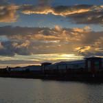 Dusk light at Preston Marina