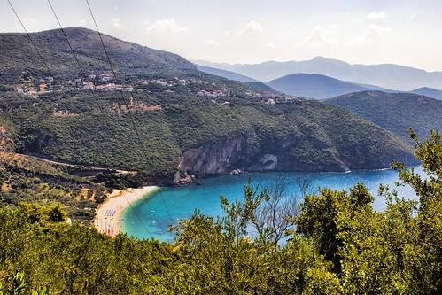 lichnos parga epirus greece beach