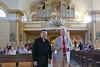 Die Künstler, im Hintergrund die Billeder Kirchenorgel