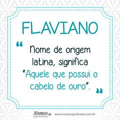 Significado do nome Flaviano