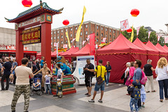 Visitors at Chinafest in Cologne