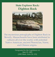 State Explorer Rock: Dighton Rock