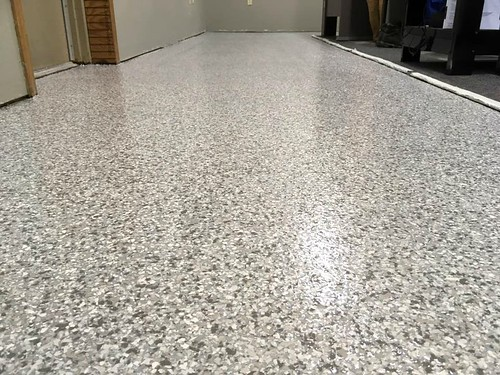 Houston TX - Epoxy Flake Office Flooring