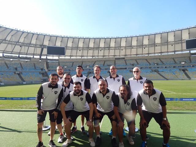 Equipe de FUTMESA do Botafogo na etapa Maracanã