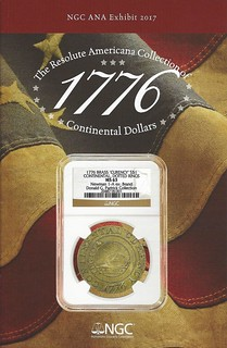 NGC Resolute Continental Dollars pamphlet