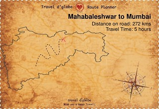 Map from Mahabaleshwar to Mumbai