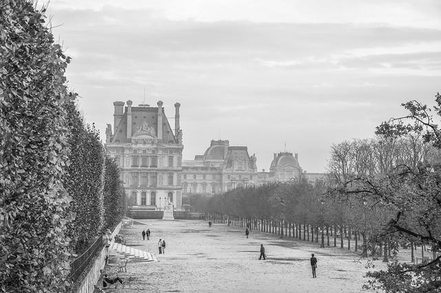Louvre in autumn