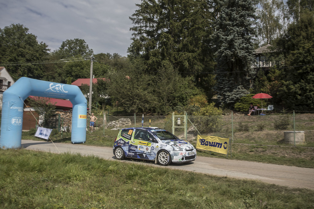 STRATEVIA Ekaterina AVRAMOV Georgi Citroen C2 R2  MAX action during the 2017 European Rally Championship ERC Barum rally,  from August 25 to 27, at Zlin, Czech Republic - Photo Gregory Lenormand / DPPI