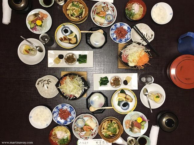 Cena al Ryokan Tanabe