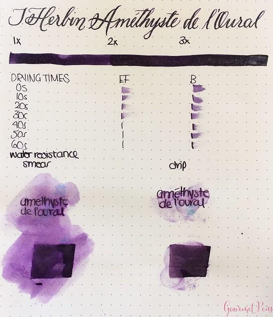 Ink Shot Review Jacques Herbin 1798 Améthyste de l'Oural 12