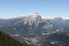 Banff town centre and Cascade Mountain