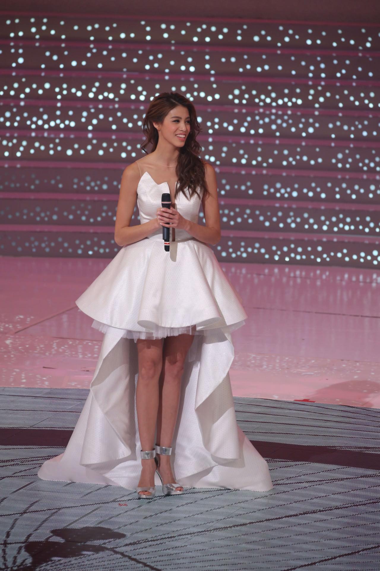 2017年度香港小姐冠軍雷莊𠒇。(資料圖片/黃國立攝)