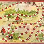 Vintage Little Red Riding Hood board game