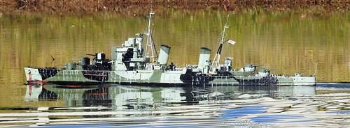 Model naval ship