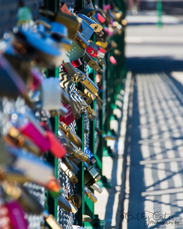 Adelaide University Footbridge Love Locks