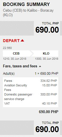 Cebu to Kalibo June 30, 2018 AirAsia Promo
